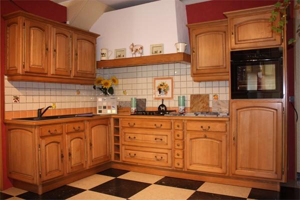 Cuisine cuisine rocchettiventoux ch ne naturel meubles for Cuisine integree en bois