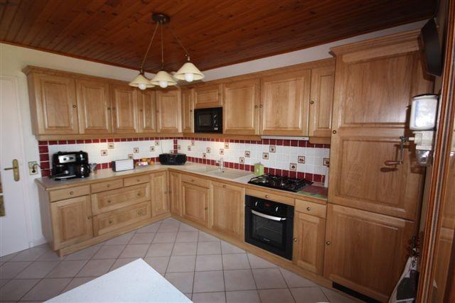 Cuisine cuisne rocchetti paula ch ne naturel meubles - Modele placard de cuisine en bois ...
