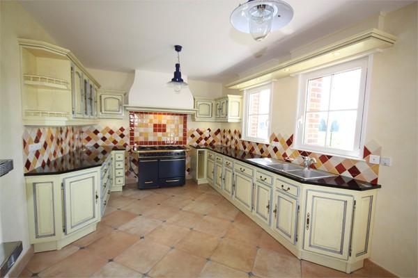 Cuisine cuisine rocchetti blois ivoire patine gratt e Meuble patine blanc ivoire