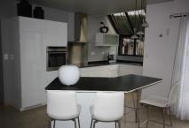 Cuisine ROCCHETTI modele ECLAT en laque brillante prestige blanc pur brillant.