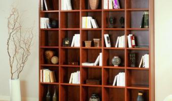 Placards ROCCHETTI Bibliothèque décor poirier