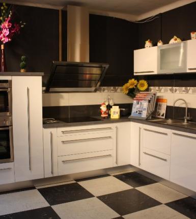 cuisines ROCCHETTI modèle ANTARES stratifié blanc cristal brillant